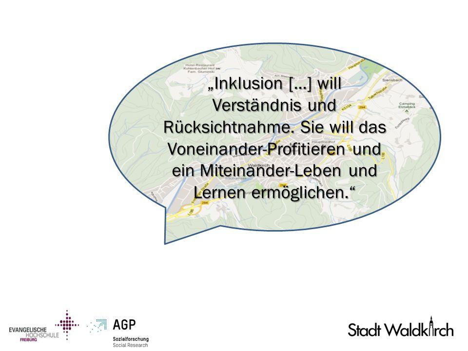 """""""Inklusion [. ] will Verständnis und Rücksichtnahme"""